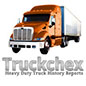 TruckChex Truck History Reports logo with truck.