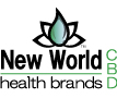 Our NewWorldHealthBrands CBD Logo with the Lotus Flower