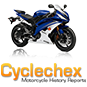CycleChex Motorcycle History Reports logo with bike